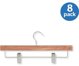 Honey-Can-Do Skirt and Pant Hanger with Clips, Cedar (Pack of 8)