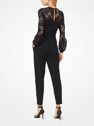 MICHAEL Michael Kors Sequined Mesh Jumpsuit