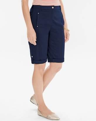 Chico's Comfort Waist Utility Shorts- 12 Inch Inseam