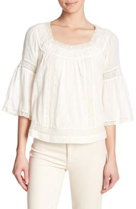 Rebecca Taylor Bell Sleeve Gauze Blouse