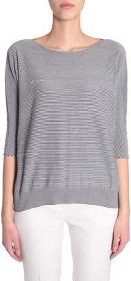 Fabiana Filippi Striped Cotton Pullover