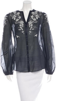 Alice by Temperley Embroidered Long Sleeve Top $65 thestylecure.com