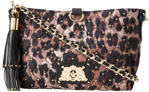 Juicy Couture Quilted and Studded Nylon Mini Kiki Cross Body Bag