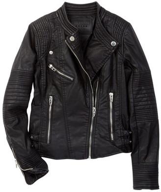 BLANKNYC Denim Faux Leather Moto Jacket (Big Girls) $98 thestylecure.com