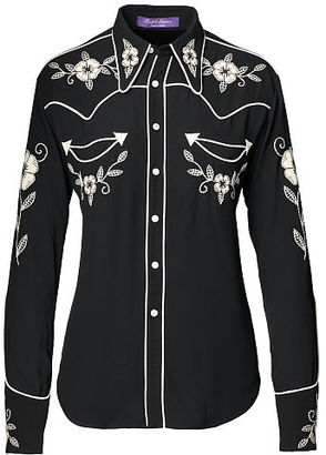 Ralph Lauren Sydney Embroidered Twill Shirt $2,490 thestylecure.com