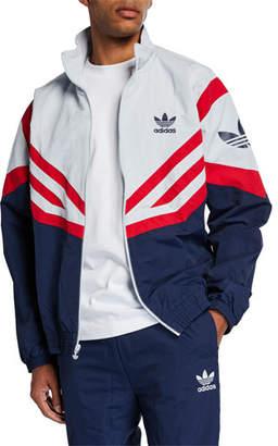 adidas Men's Colorblock Woven Track Jacket