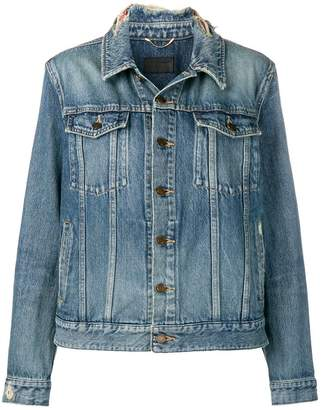 Saint Laurent frayed collar denim jacket