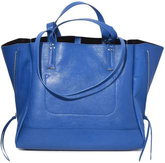 Jerome Dreyfuss Georges Large Bag in Azur Goatskin