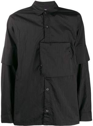 Poliquant pocket-detail fitted shirt