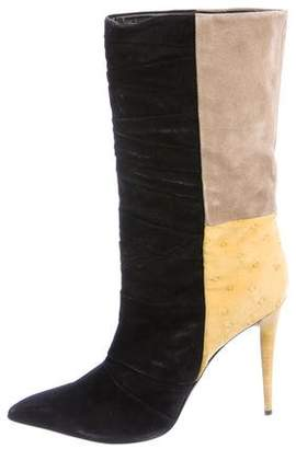 Narciso Rodriguez Suede Pointed-Toe Boots
