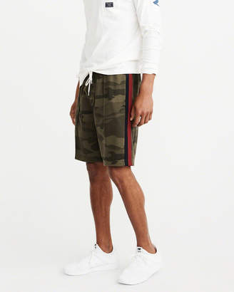 Abercrombie & Fitch Camo Side-Stripe Track Shorts