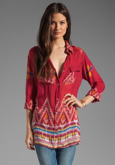 Indah Giselle Button Down Travel Shirt Dress