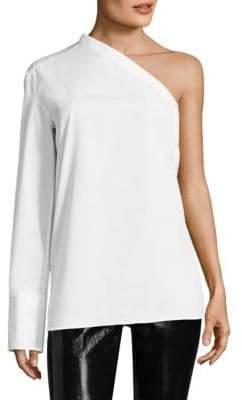 Helmut Lang Poplin One Sleeve Shirt