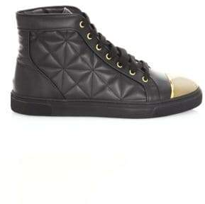 Louis Leeman Quilted Leather High-Top Sneakers