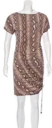 MICHAEL Michael Kors Snakeskin Print Mini Dress