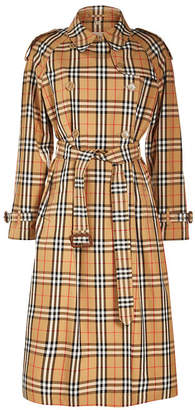 Burberry Eastheath Checked Trench Coat