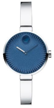 Movado Movado Edge Special Edition Stainless Steel Bracelet Watch $695 thestylecure.com