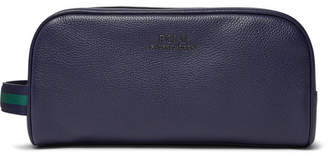 Polo Ralph Lauren Full-Grain Leather Wash Bag - Men - Navy