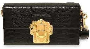 Dolce & Gabbana Lizard-effect Leather Shoulder Bag