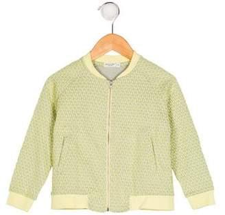 Anais & I Girls' Embroidered Bomber Jacket