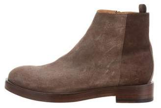 Paul Smith Suede Round-Toe Ankle Boots