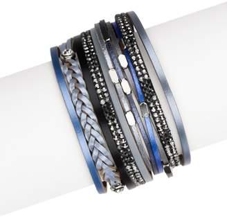 Saachi Sufia Blue Leather Bracelet