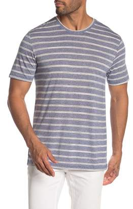 Public Opinion Short Sleeve Crew Neck Striped Tee