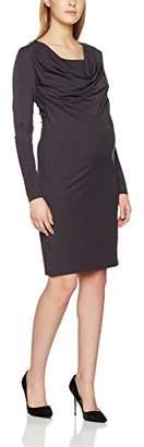 Mama Licious MAMALICIOUS Women's MLLENNY PETIT NELL L/S JERSEY DRESS NF A Maternity Dress, Grey (Nine Iron), (Manufacturer size: X-Large)