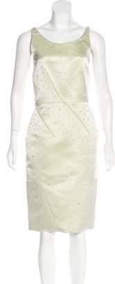 Nina Ricci Embellished Silk Dress