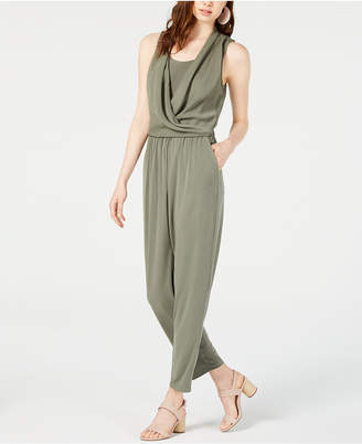 Bar III Sleeveless Draped Jumpsuit