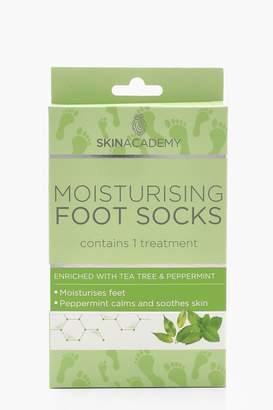 boohoo Tea Tree & Peppermint Moisturising Foot Socks