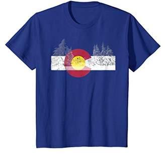 State of Colorado Flag Shirt Novelty Birthday Gift