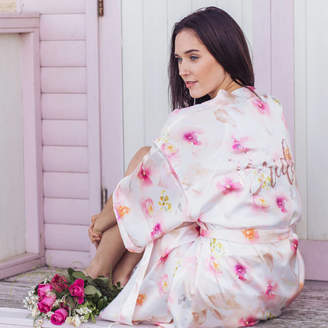 6668a5dc50 Matchimony Luxury Pink Floral Personalised Dressing Gown