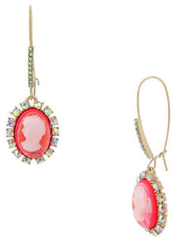 Betsey Johnson Granny Chic Crystal Drop Earrings