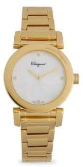 Salvatore Ferragamo Stainless Steel Link Bracelet Watch
