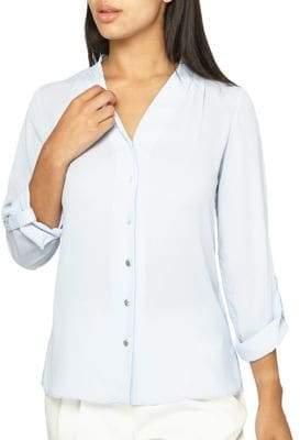 Dorothy Perkins Pleated Roll-Sleeve Shirt
