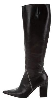 Michel Perry Leather Knee-High Boots