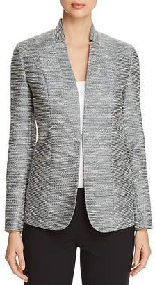 Elie Tahari Tori Metallic-Tweed Blazer