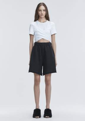 Alexander Wang HIGH TWIST CROPPED TEE TOP