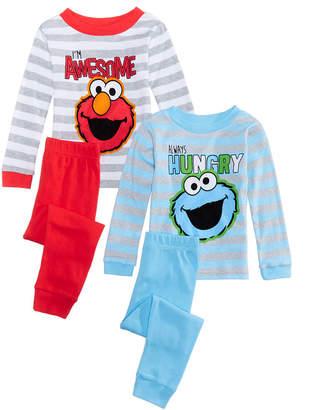 Sesame Street Toddler Boys 4-Pc. Elmo & Cookie Monster Cotton Pajama Set