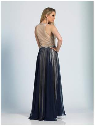 Dave and Johnny Two Tone Gown