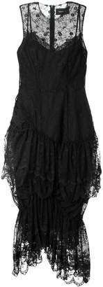 Simone Rocha sleeveless ruffled lace midi dress