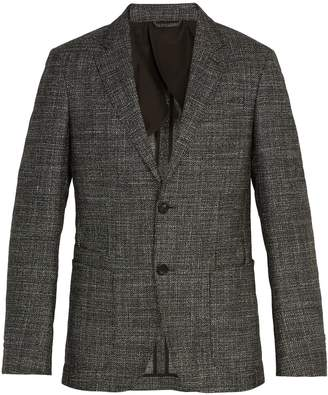 Ermenegildo Zegna Single-breasted checked wool-blend blazer