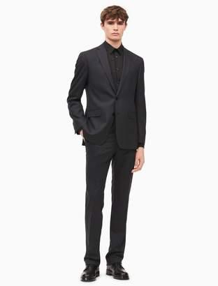Calvin Klein x-fit ultra slim fit charcoal plaid suit