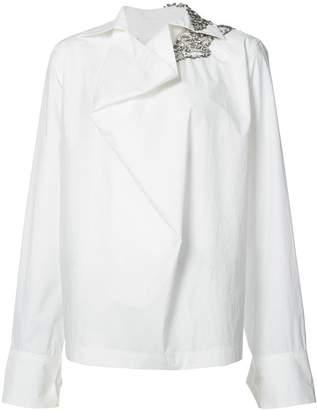 Marni embellished shoulder shirt