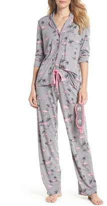 PJ Salvage Print Pajamas & Eye Mask