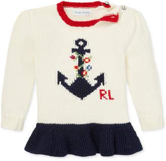 Polo Ralph Lauren Baby Girls Graphic Cotton Sweater