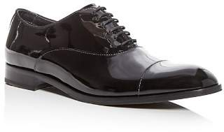 Giorgio Armani Men's Patent Leather Cap Toe Oxfords