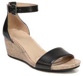 Naturalizer Cami Leather Wedge Sandals