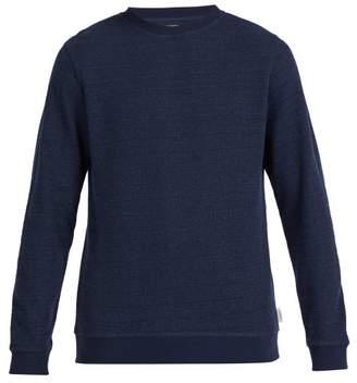 Oliver Spencer Robin Crew Neck Cotton Sweatshirt - Mens - Navy
